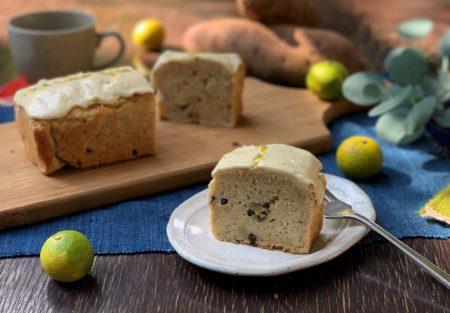 『 里山みらいのすだち と さつま芋の2層のアイシングケーキ 』:11からのケーキ