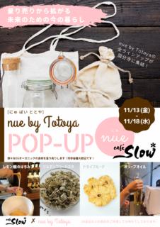 11/13(金)-18(水)『量り売りから拡がる未来のための今の暮らし』nue by Totoya meets Café Slow