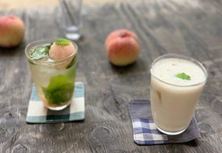 ピーチモヒート&豆乳ピーチミルク:ピーチフェア2019