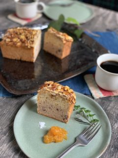 \NEW/柚子ときび蜜漬け小豆の2層仕立てのケーキ&新春ブレンドハーブティ