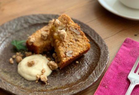 『 みやもと山のおしゃべり味噌と果樹園木楽のりんごのケーキ 』:2020年1月新メニュー