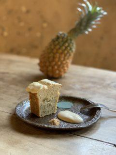 「パイナップルとアールグレイの2層仕立てのケーキ」初夏の新メニュー