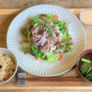 daidaiさんのジビエ肉~対馬のイノシシ肉冷しゃぶサラダ:初夏の新メニュー