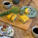 『 かぼちゃと天の煎茶、白手亡豆のサンドケーキ 』:10月のパウンドケーキ