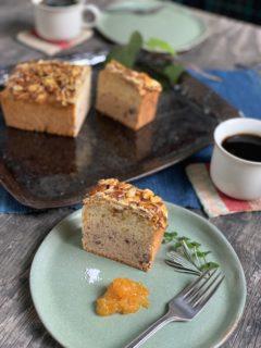 柚子ときび蜜漬け小豆の2層仕立てのケーキ&新春ブレンドハーブティ