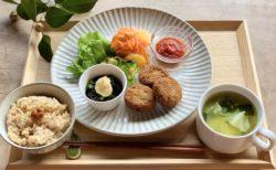 3月のヴィーガンスロープレート と 塩さばの青菜とろろ焼き:3月新メニュー