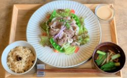 daidaiさんのジビエ肉~対馬のイノシシ肉冷しゃぶサラダ