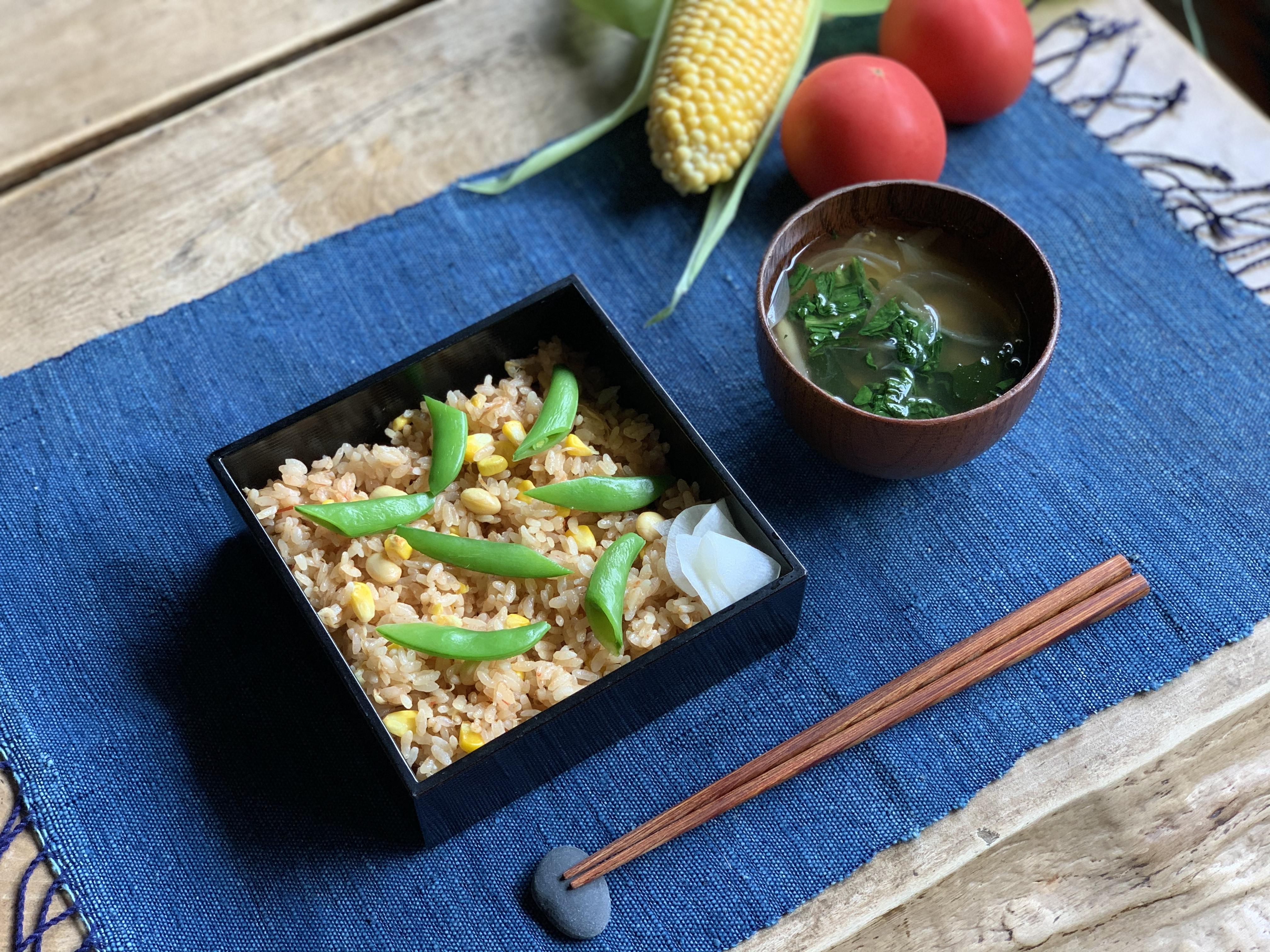 有機認証の食材でつくる 夏の炊き込みごはん、はじまります。