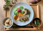 『10月のヴィ―ガンスロープレート』~さつまいもと神崎在来絹豆腐の飛竜頭ほか